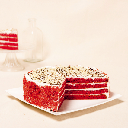 TARTA RED VELVET , MODERN FOOD
